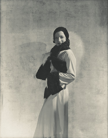 Model in Velvet Coat by Vionnet