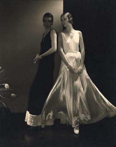 Models Wearing Sleeveless Gowns by Vionnet