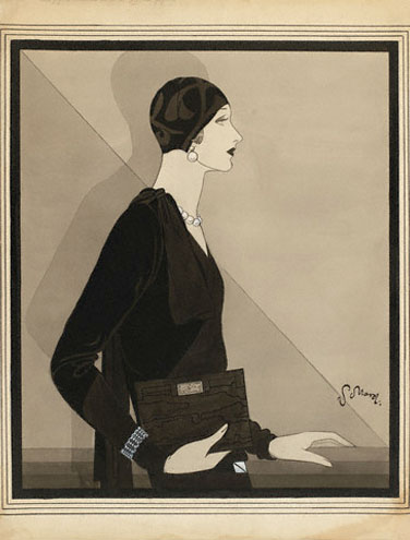 Woman in Skullcap by Reboux and Dress by Vionnet